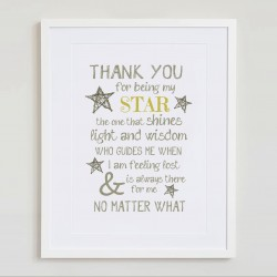 Thank you for being my star...